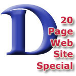 Web Site SPECIAL - 20 Page Web Site for $4,295.00