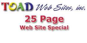 Web Site SPECIAL - 20 Page Web Site for $4,995.00