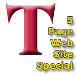 Web Site SPECIAL - 5 Page Web Site for $1,495.00