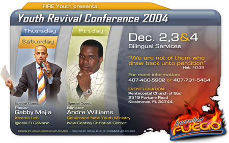 TOAD Web Site Custom Flyer for Youth Revival